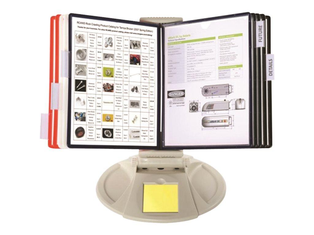 Promocome - Lutrin de comptoir en plastique - fourni avec 10 pochettes A4 multi-coloris