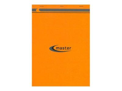 MASTER - Pack de 5 Blocs notes détachables - A4 + - 200 pages - petits carreaux - 70g