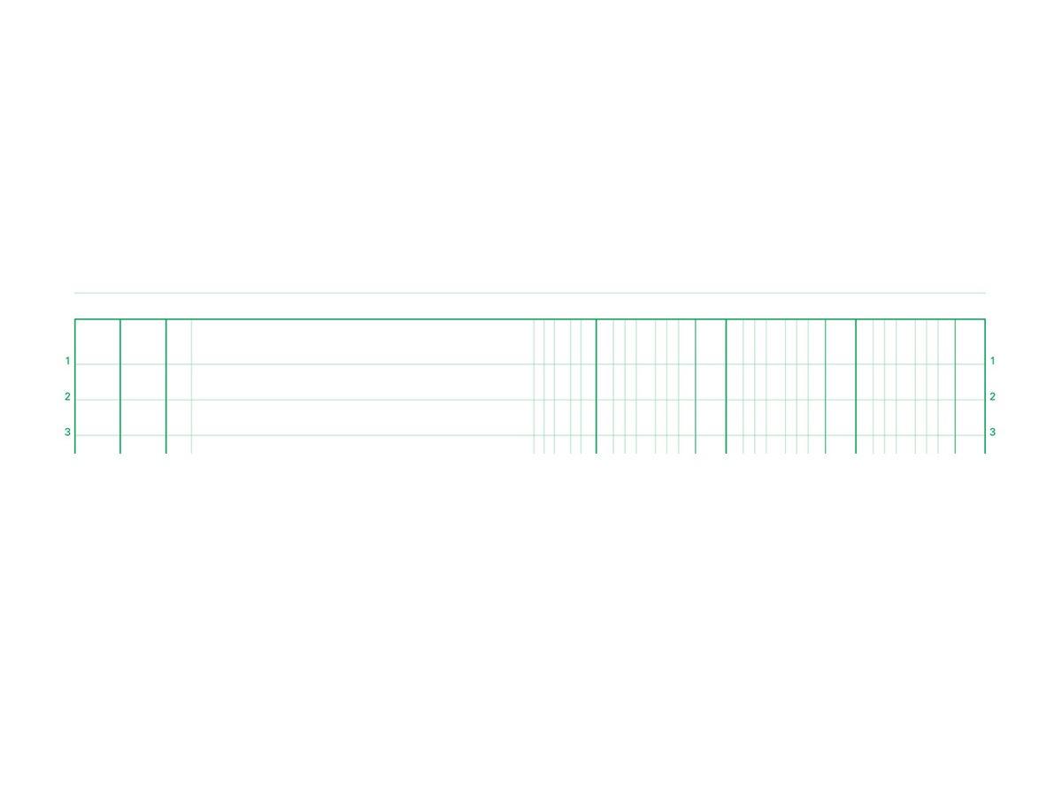 Exacompta - Manifold Carnet 3 colonnes - 50 dupli - A4