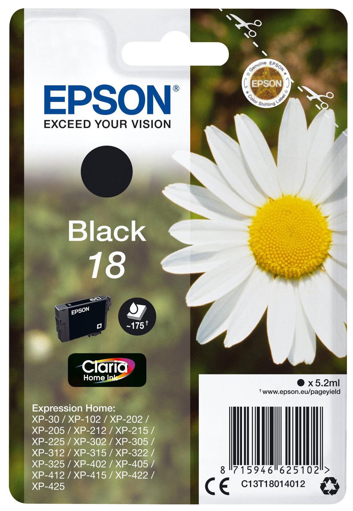 Epson 18 Pâquerette - noir - cartouche d'encre originale
