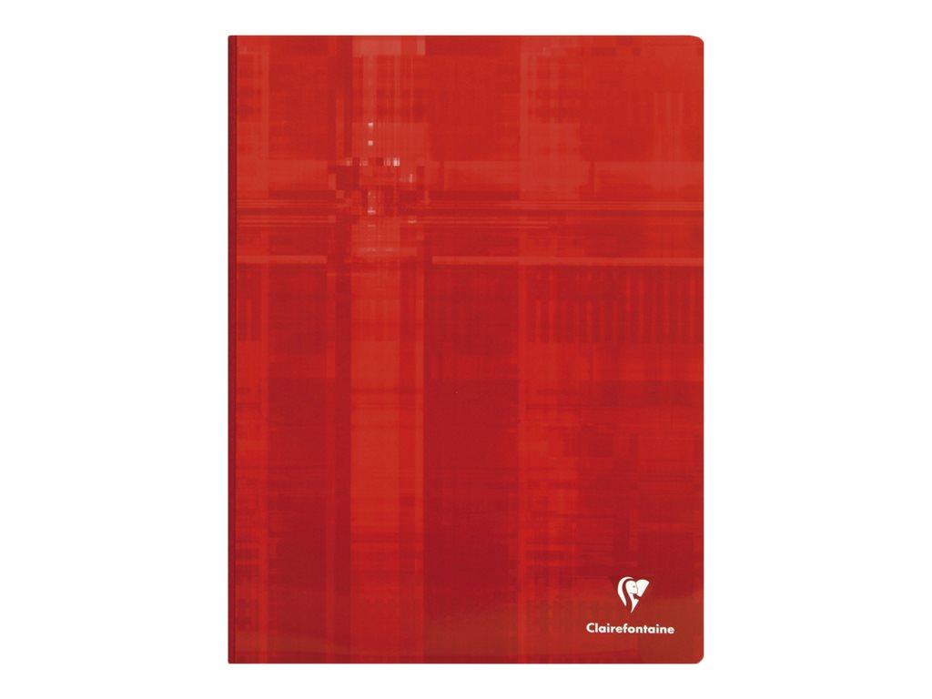 Clairefontaine - Cahier broché 24 x 32 cm - 192 pages - petits carreaux (5x5 mm) - disponible dans différentes couleurs