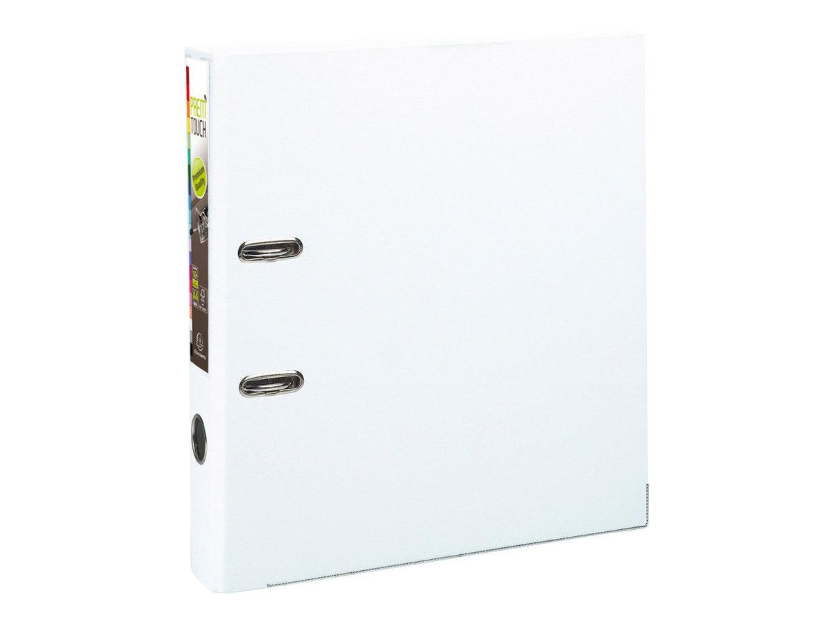 Exacompta Prem'Touch - Classeur à levier - Dos 50 mm - A4 Maxi - pour 400 feuilles - blanc