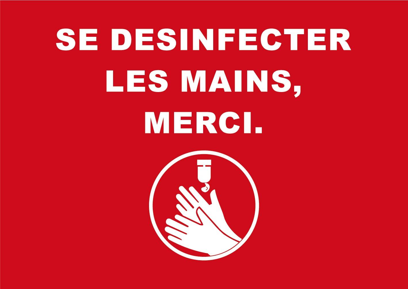 Novus Dahle - Tapis de distanciation sociale - désinfection mains-  85x120 - rouge