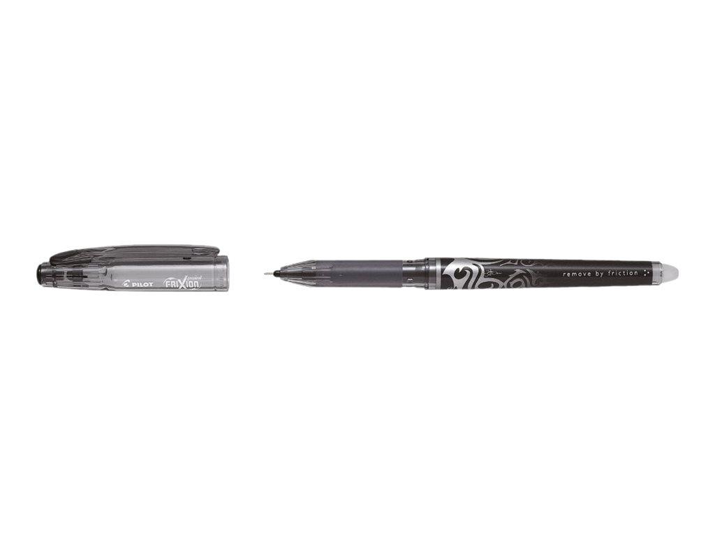 Frixion Pilot - Pack de 12 - rollers effaçables  - 0,5mm - noir