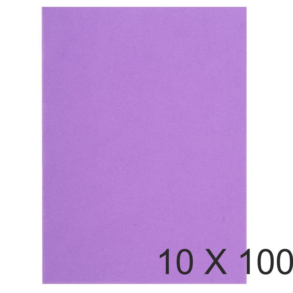 Exacompta Flash - 10 Paquets de 100 Sous-chemises recyclées - 80 gr - lilas