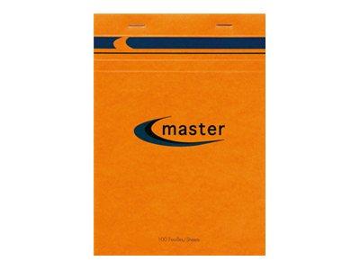 MASTER - Pack de 5 Blocs notes - A4 - 200 pages - petits carreaux - 70g
