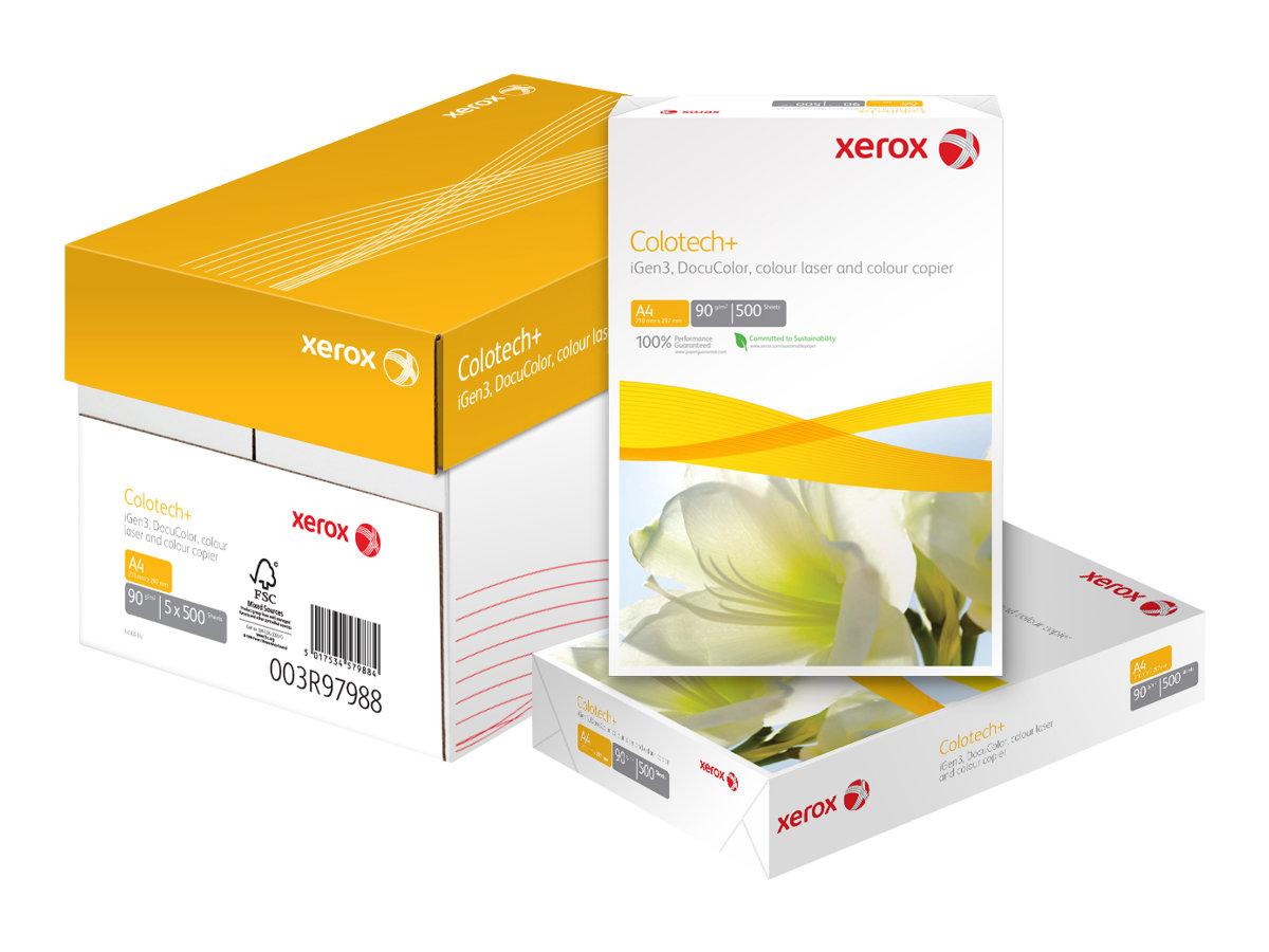 Xerox Colotech+ - Papier blanc - A4 (210 x 297 mm) - 90 g/m² - 2500 feuilles (carton de 5 ramettes)