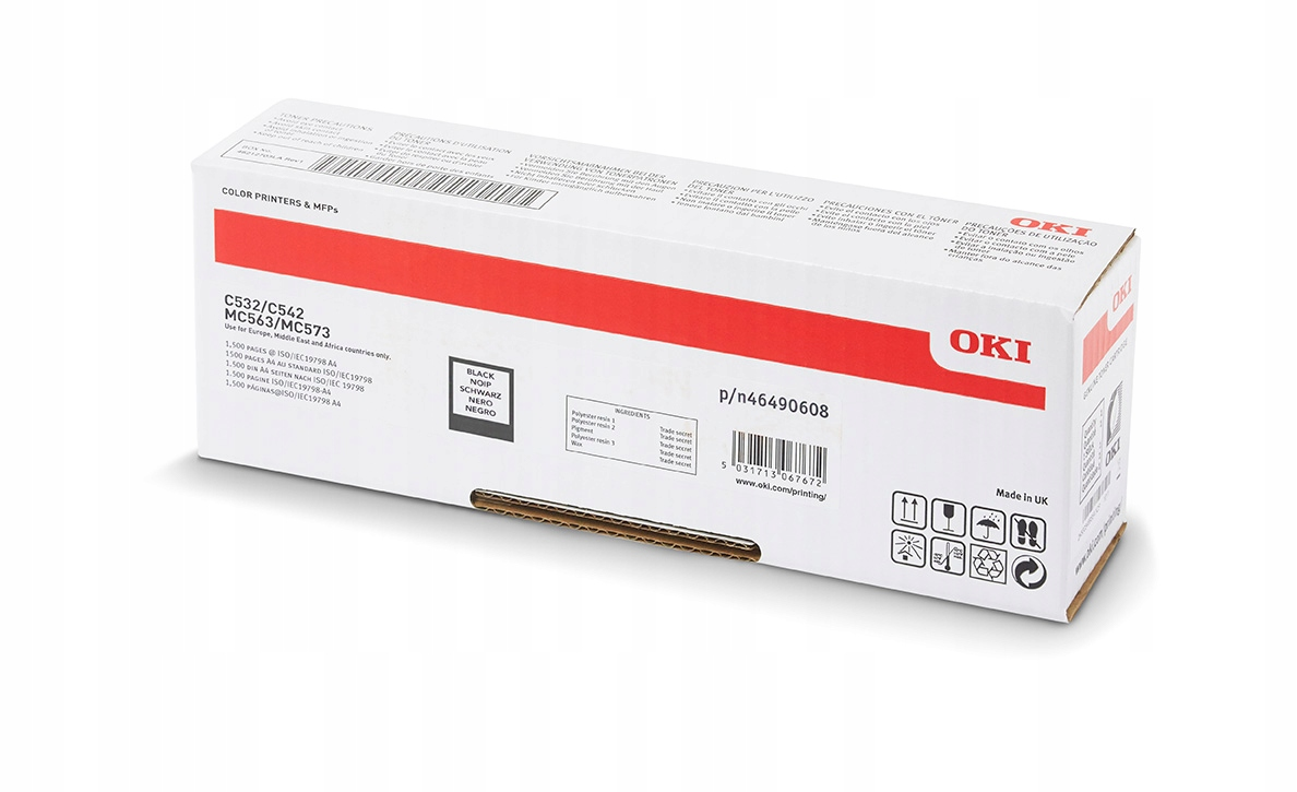 OKI 46490608 - noir - cartouche laser d'origine