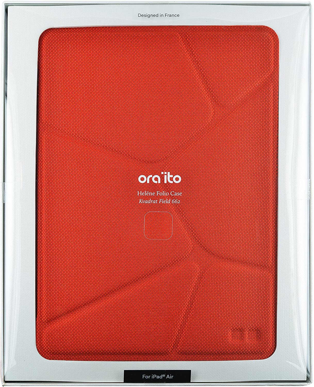 ORA ITO - Etui Folio pour iPad Air - motif organic effet matelassé rouge