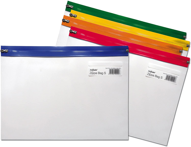 Snopake Zippa-Bag S - Pochette renforcée zippée - 255 x 190 mm - disponible dans différentes couleurs
