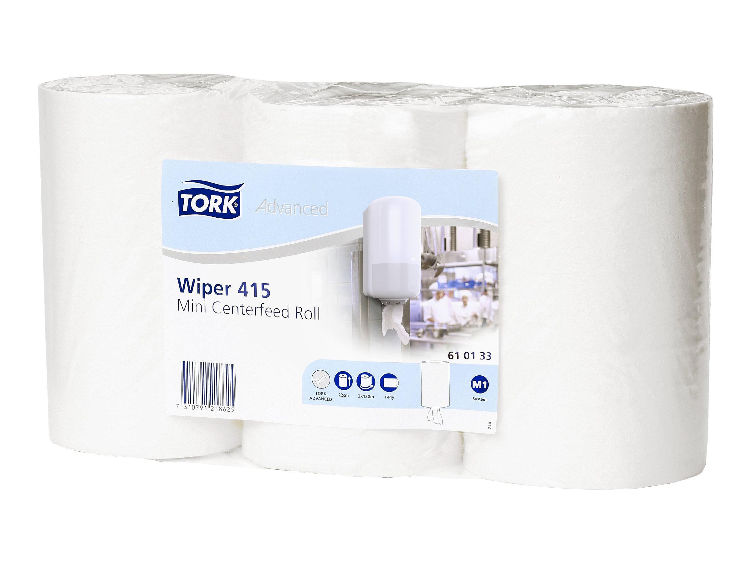 Tork Advanced Wiper 415 M - Rouleau d'essuie-tout - pack de 3
