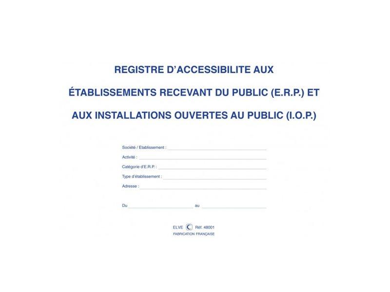 ELVE - Registre d'accessibilité aux ERP et IOP - A4