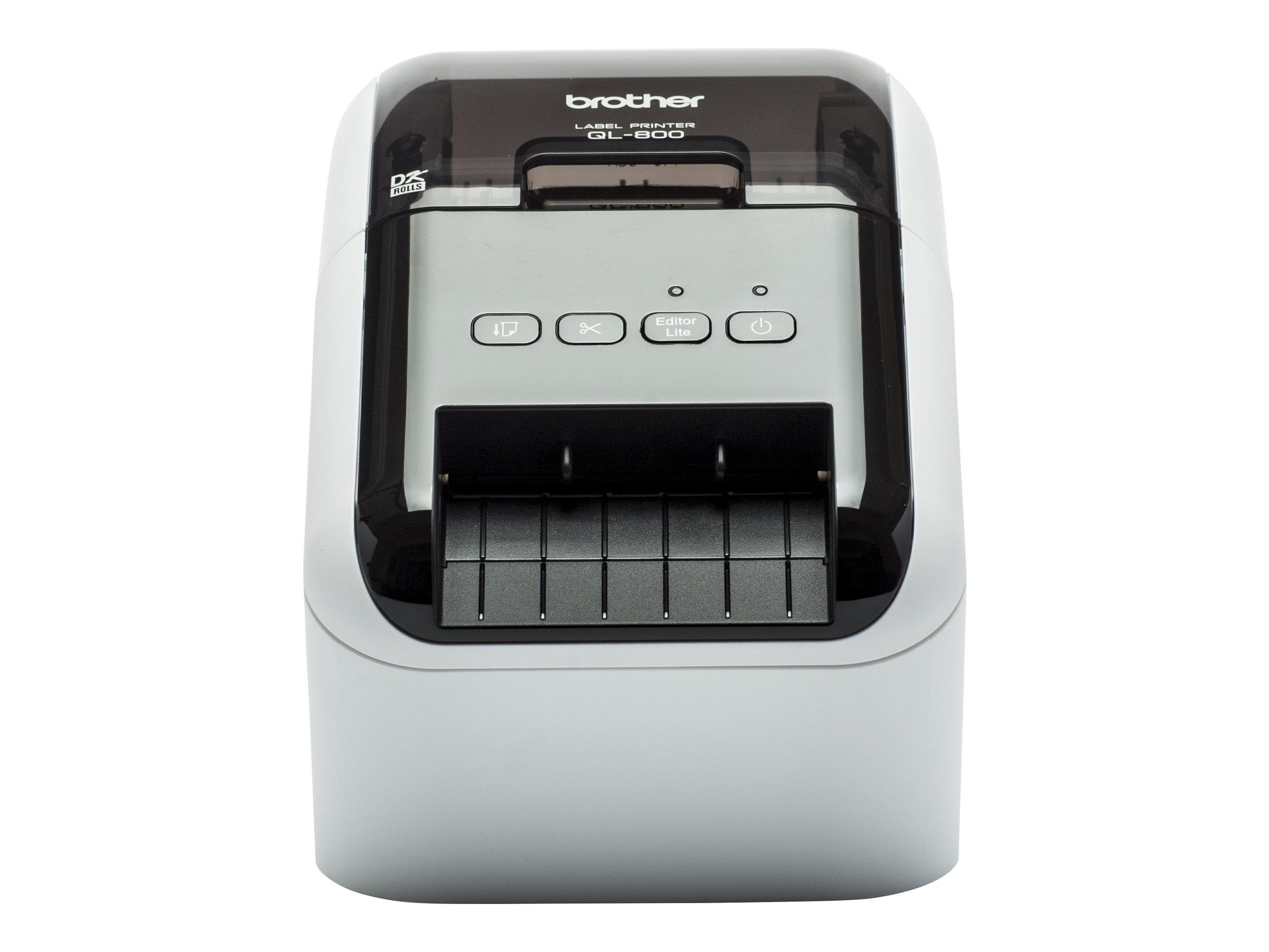 Brother QL-800  -  Étiqueteuse  - imprimante d'étiquettes en rouge et noir  - impression thermique directe