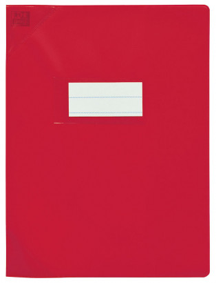 Oxford Strong Line - Protège cahier sans rabat - 24 x 32 cm - rouge opaque