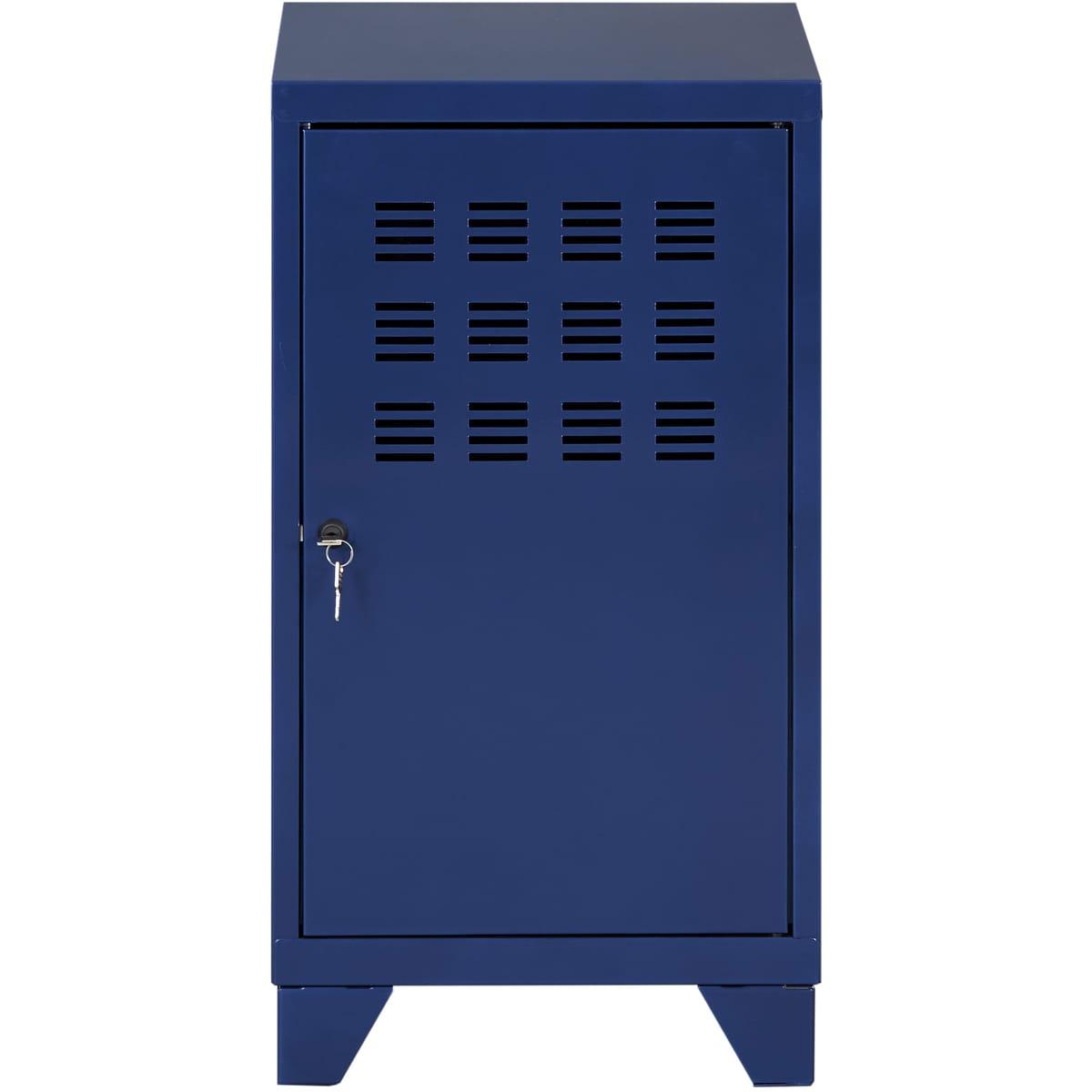 Casier de bureau avec pieds - 74 x 40 x 40 cm - bleu nuit nacré