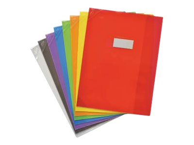 Oxford School Life - Protège cahier - 24 x 32 cm - disponible dans différentes couleurs translucides