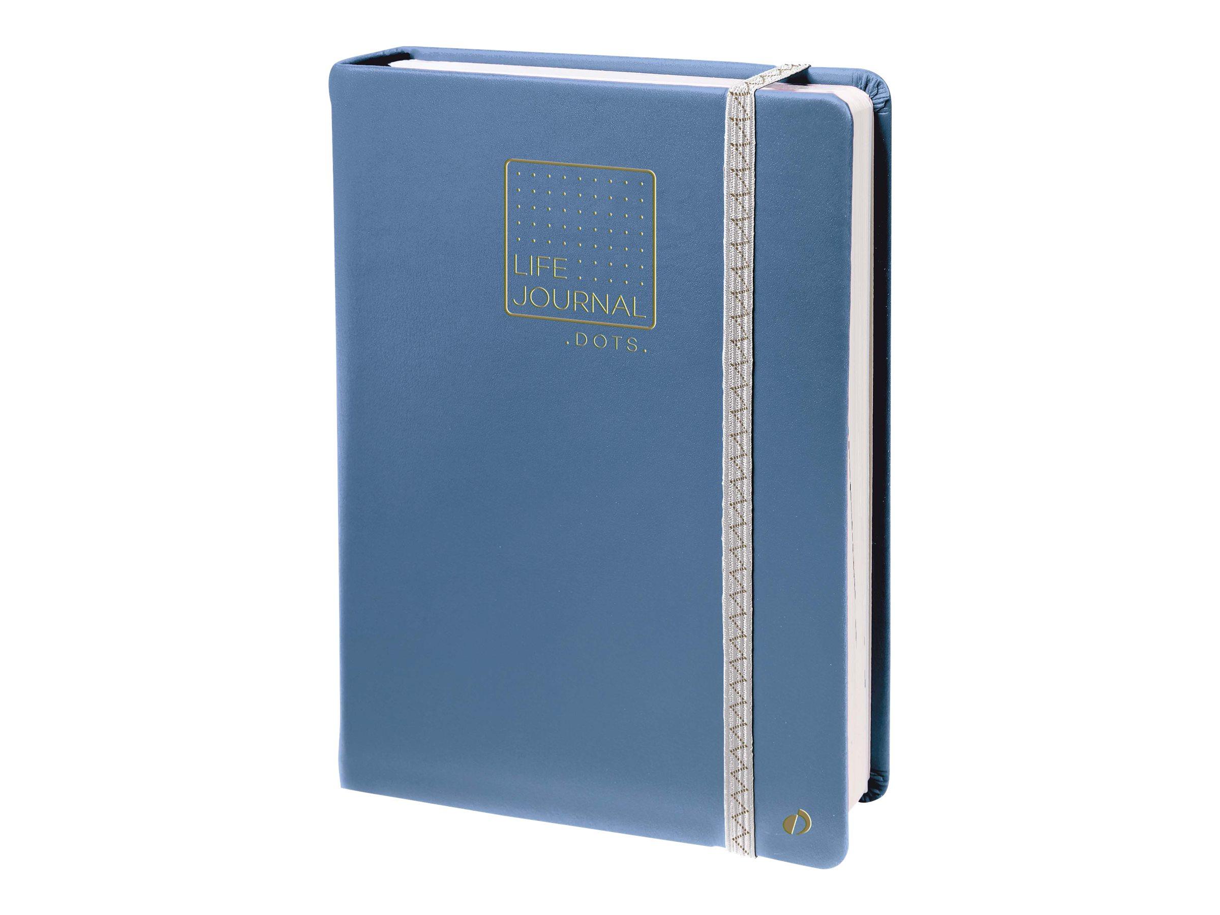 Quo Vadis Life Journal - Carnet de notes 15 x 21 cm - pointillés - bleu gris