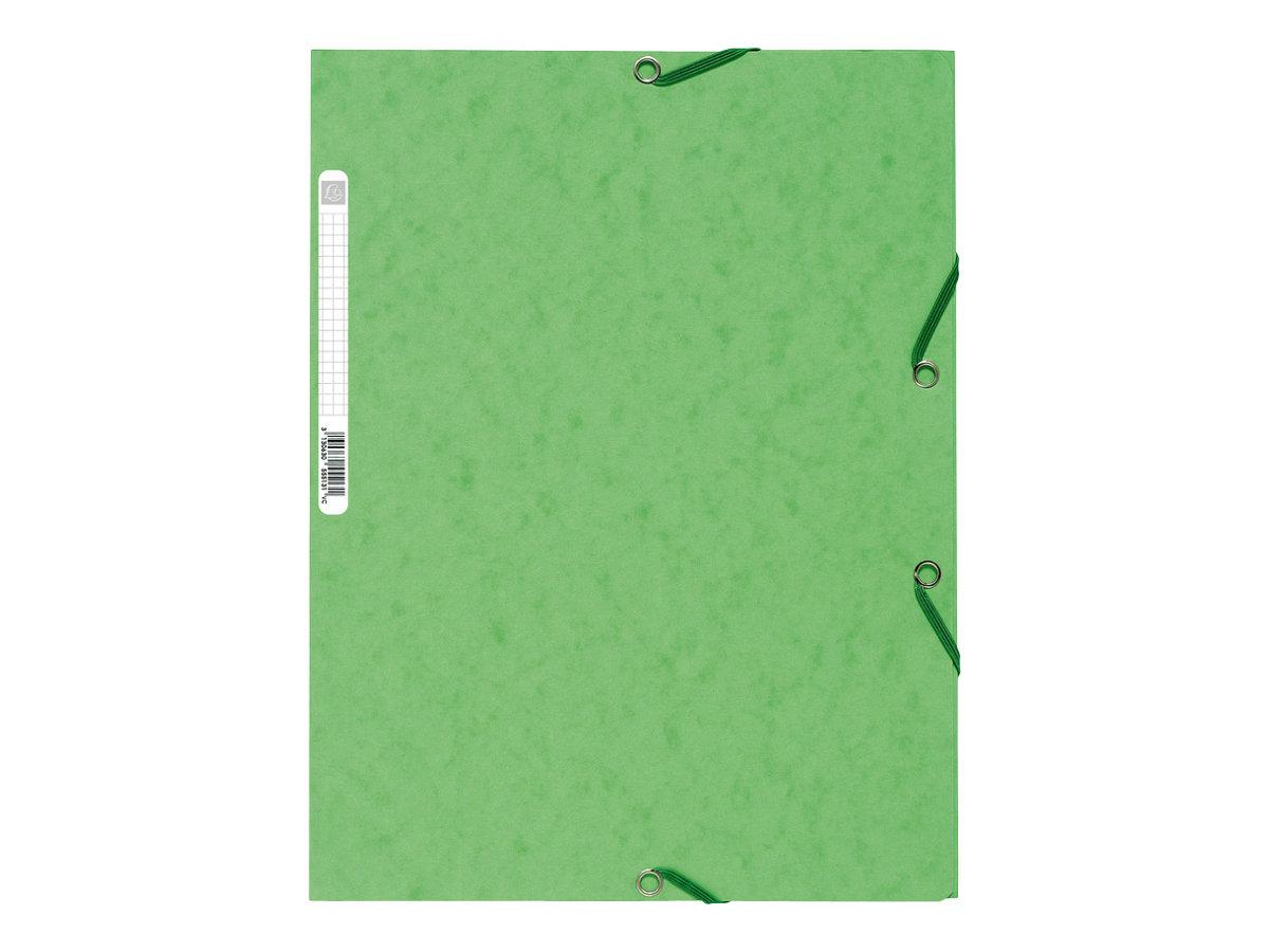 Exacompta Nature Future - Chemise à 3 rabats - A4 - pour 250 feuilles - tilleul