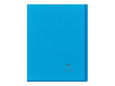 Clairefontaine Koverbook - Cahier polypro 24 x 32 cm - 96 pages - grands carreaux (Seyes) - bleu