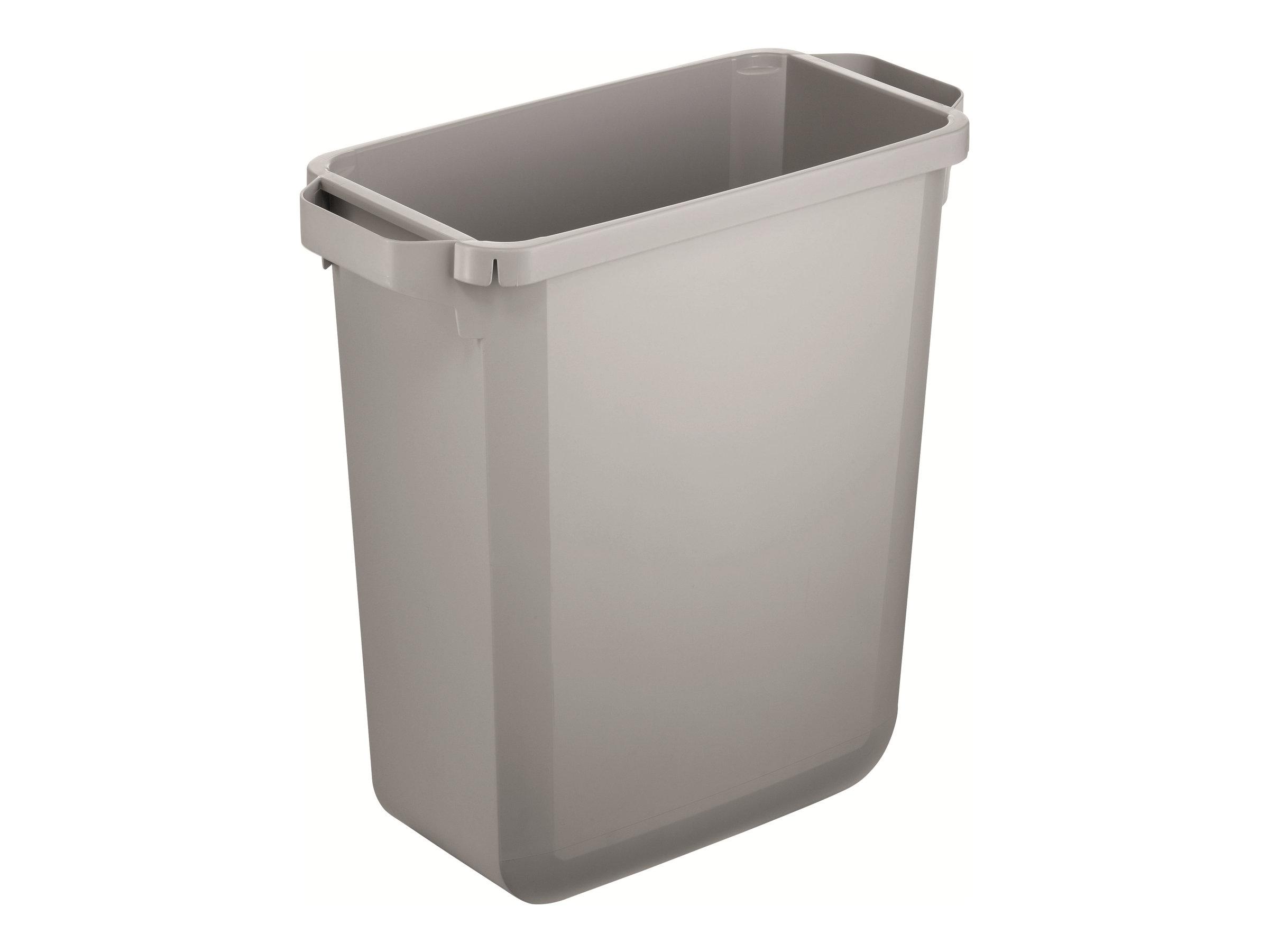 Durable - Poubelle 60L - poignées latérales - gris