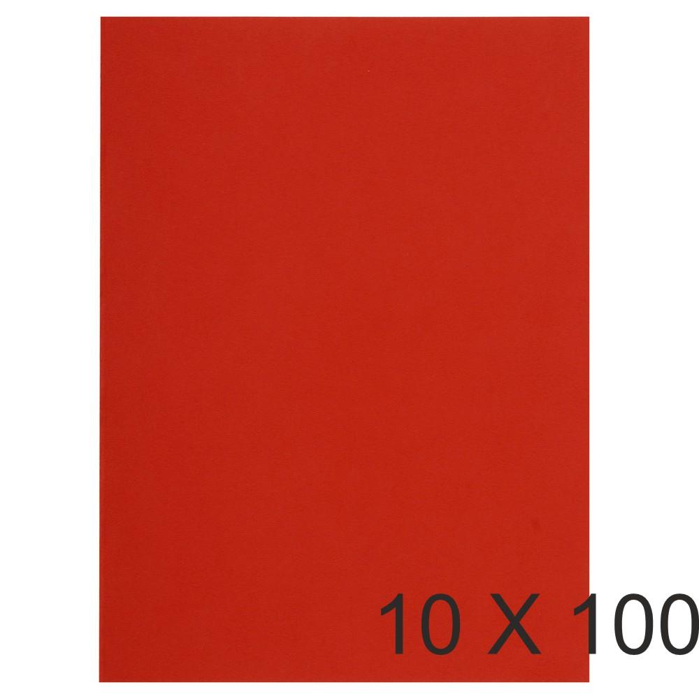 Exacompta Flash - 10 Paquets de 100 Sous-chemises recyclées - 80 gr - rouge