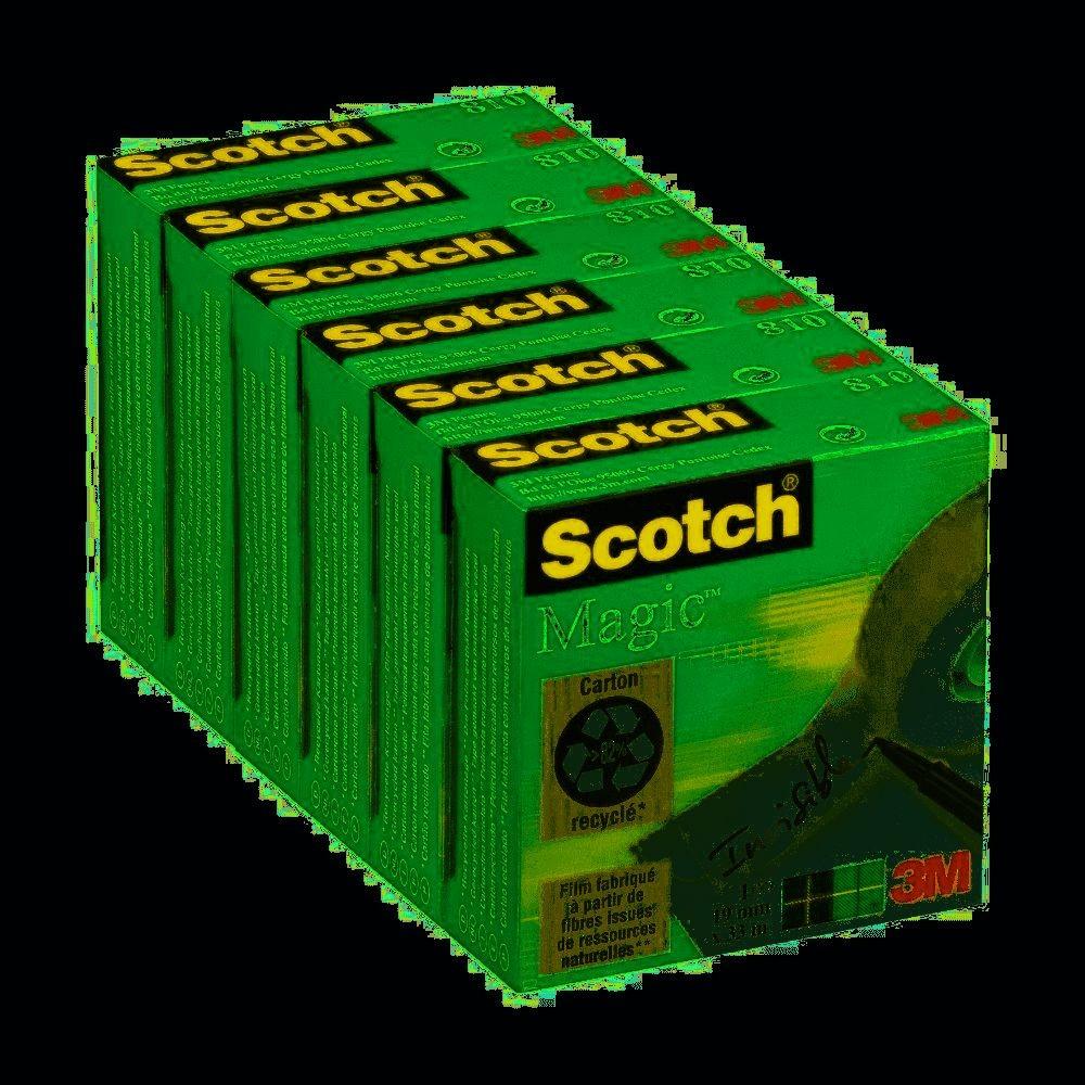 Scotch Magic - Pack de 6 Rubans adhésifs - 19 mm x 33 m