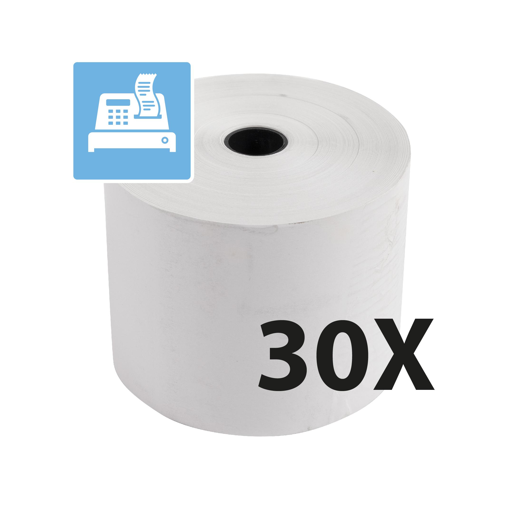 Exacompta - 30 Bobines caisses - papier thermique 60 x 80 mm - sans Bisphénol A - 76 m