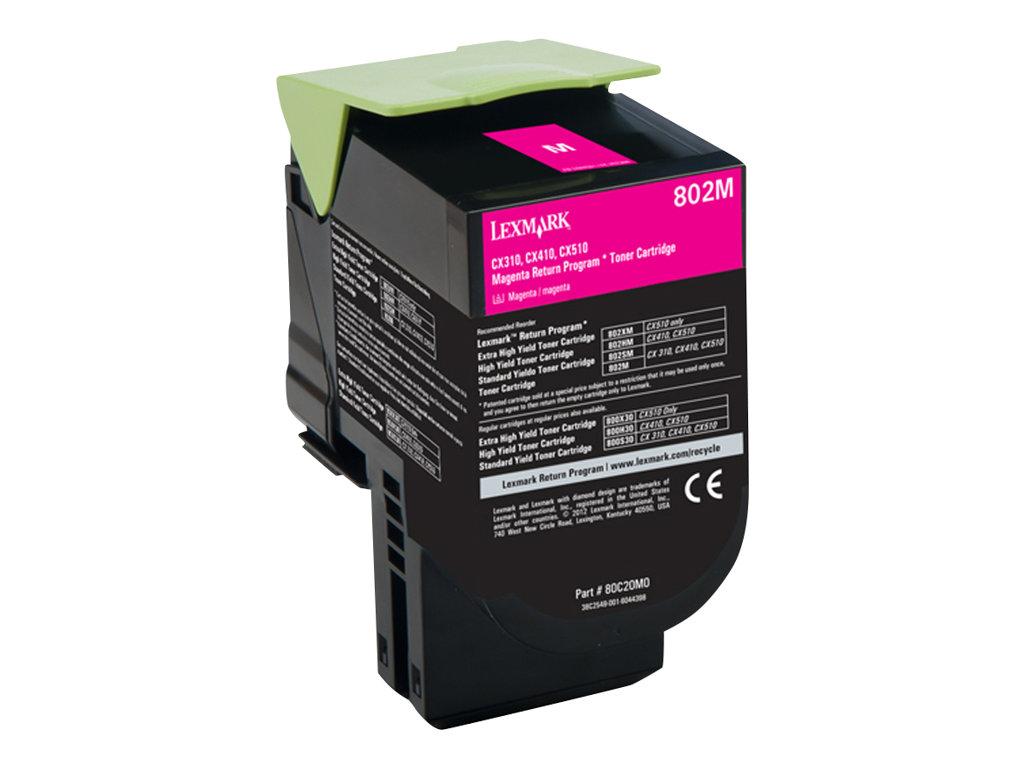 Lexmark 802 - magenta - cartouche laser d'origine
