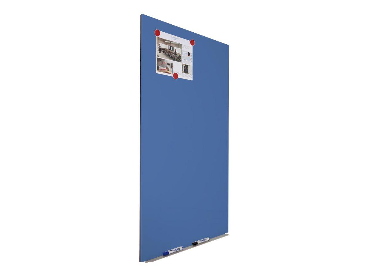 Rocada by CEP - Tableau blanc sans cadre - 75 x 115 cm - bleu