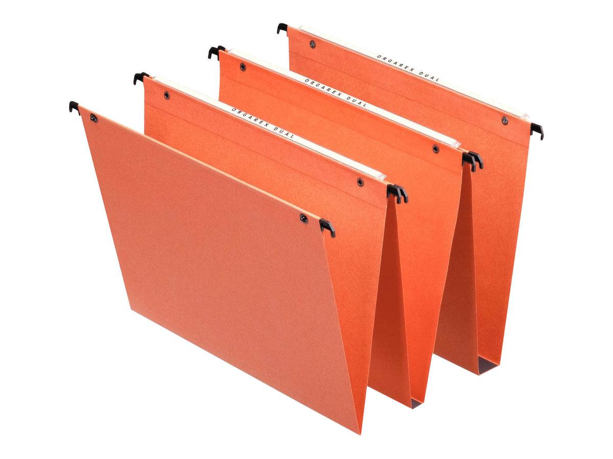 Esselte Dual - 25 Dossiers suspendus pour tiroirs - fond 30 mm