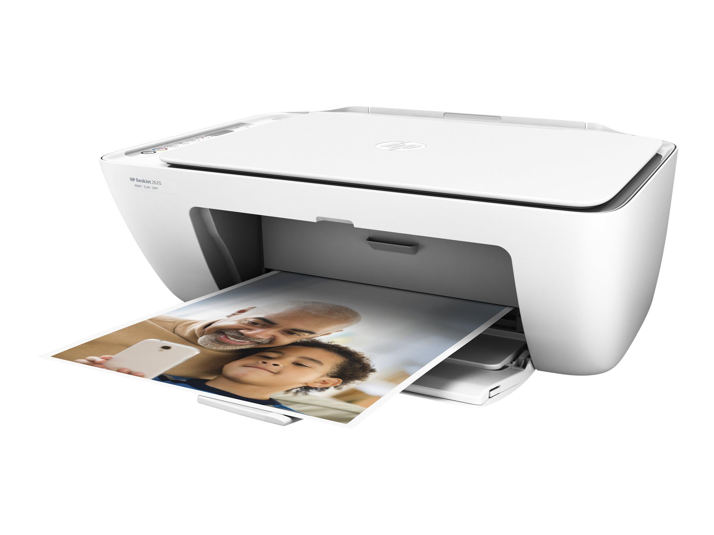 HP Deskjet 2620 All-in-One - imprimante multifonctions jet d'encre couleur A4 - Wifi, USB