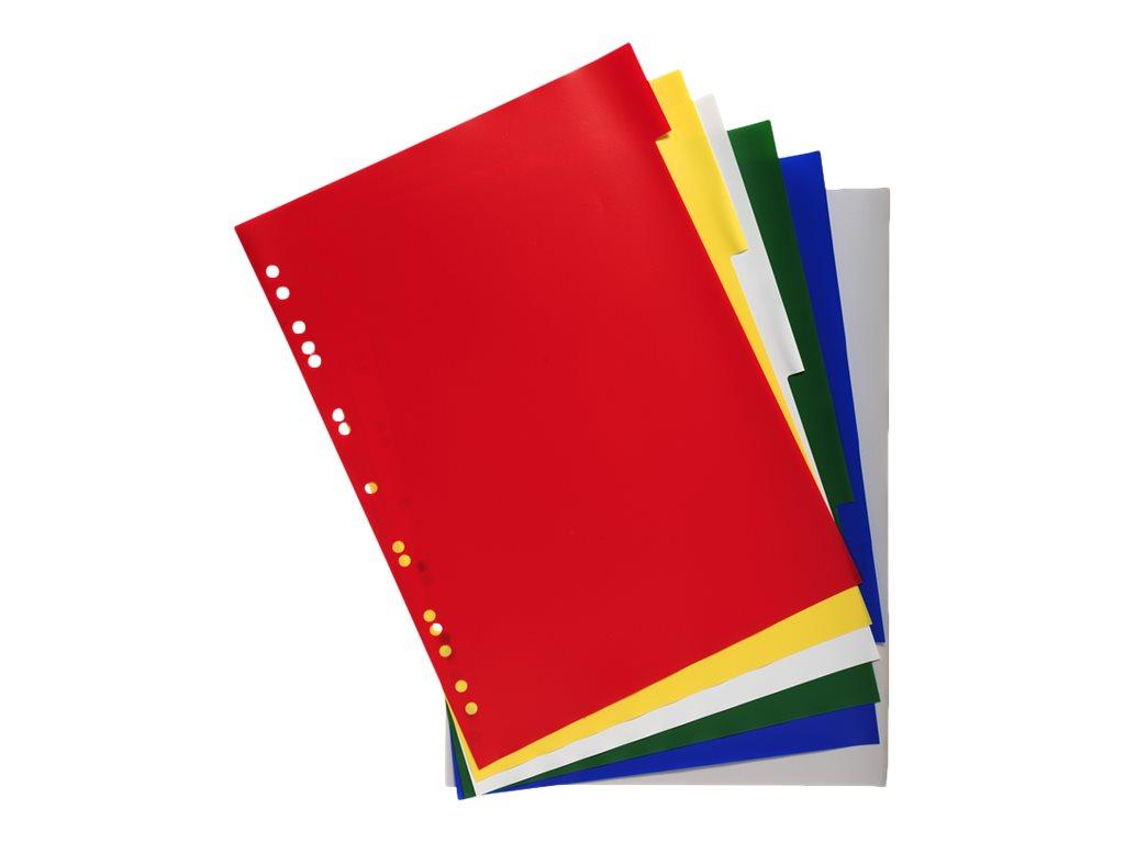 Exacompta - Intercalaire 6 positions - A4 Maxi - polypropylène coloré
