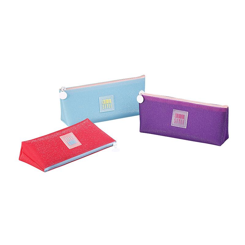 Trousse triangulaire Jelly - 1 compartiment - 3 coloris disponibles - Viquel