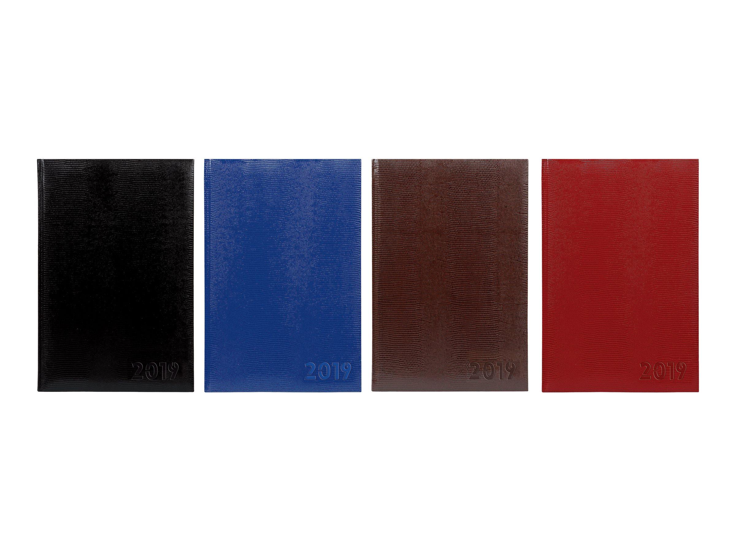 Lecas Lézard - Agenda 1 semaine sur 2 pages - 21 x 27 cm - disponible en différentes couleurs
