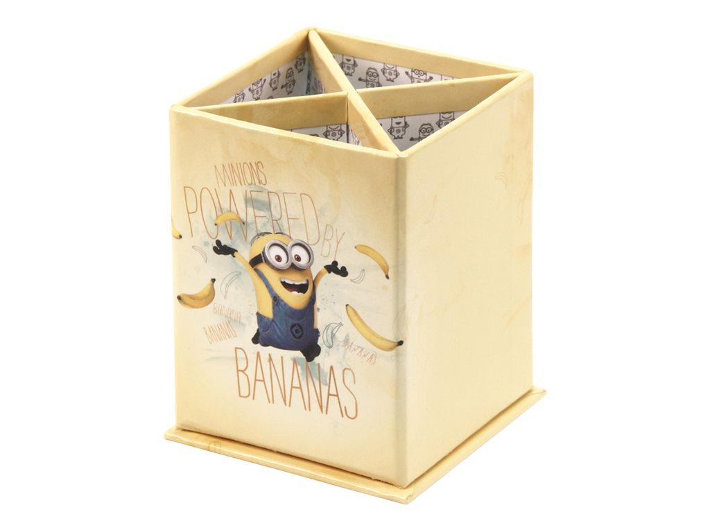Les Minions - Pot à crayons rectangulaire modèle bananas - Clairefontaine