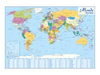 CBG - Carte double face Europe / Monde politique - 980 x 1380 mm