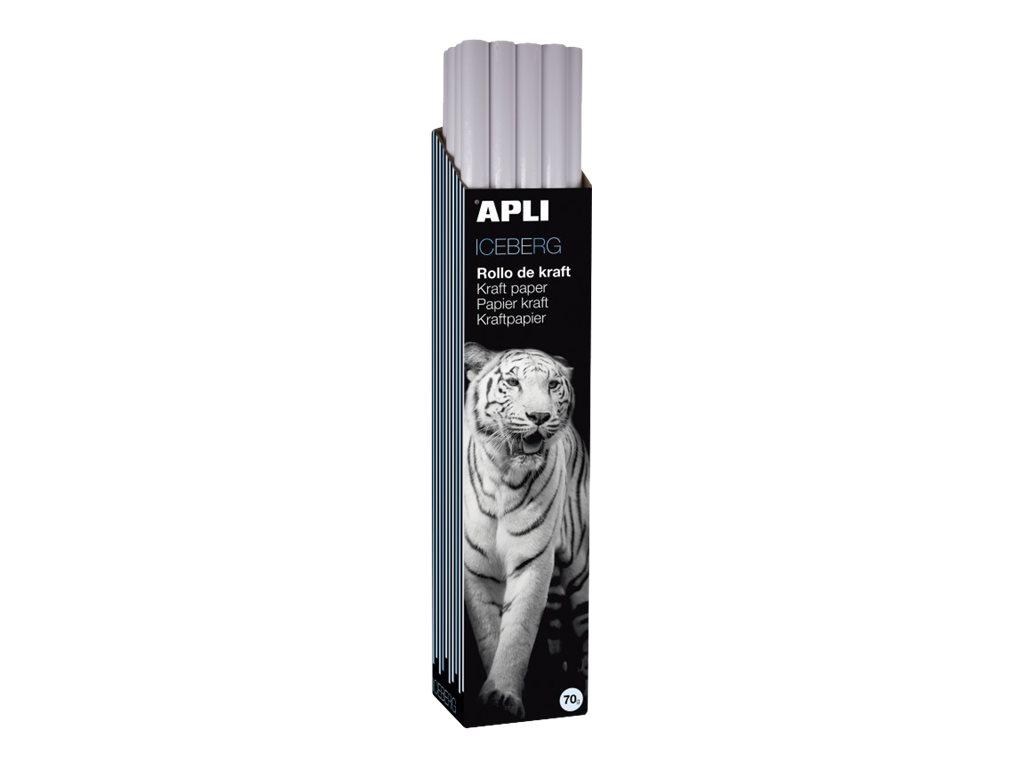 Apli Agipa - Papier cadeau kraft - 100 cm x 3 m - 70 g/m² - blanc