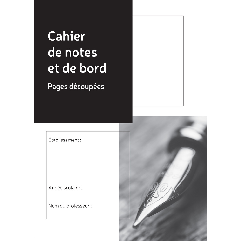 Exacompta - Cahier de notes et de bord du professeur - 26 matières - 48 pages - A4