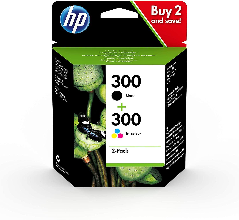 HP 300 - Pack de 2 - noir, cyan, magenta, jaune - cartouche d'encre originale