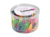 Carpentras Sign - Boîte de 500 attaches-lettres plastique - 25 mm - couleurs assorties