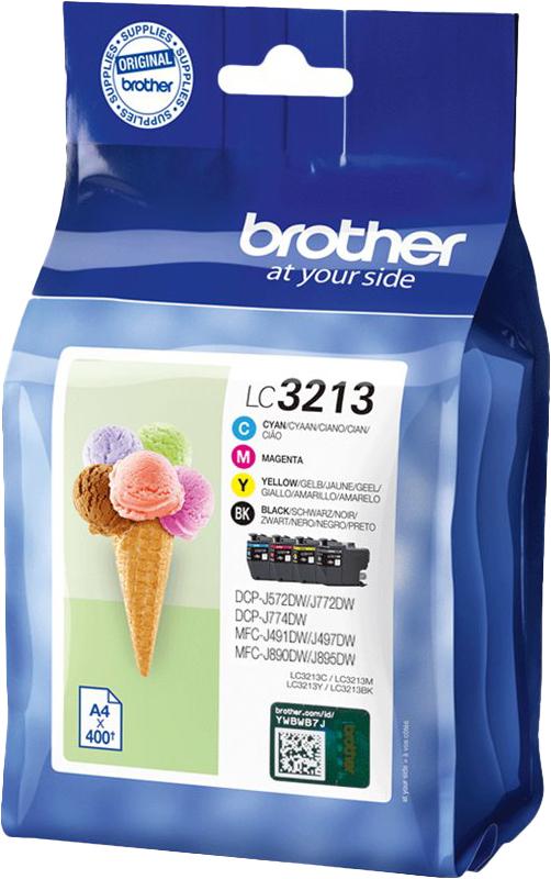 Brother LC3213 - Pack de 4 - noir, cyan, magenta, jaune - cartouche d'encre originale