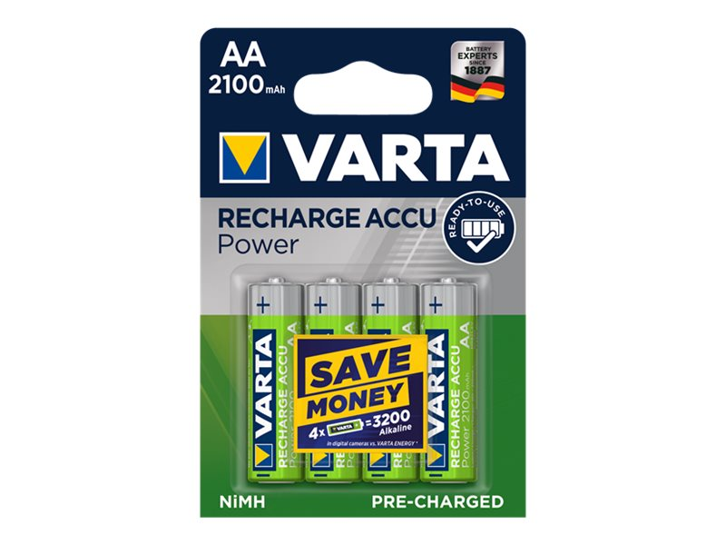 VARTA Accu power - 4 piles alcalines rechargeables - AA LR06