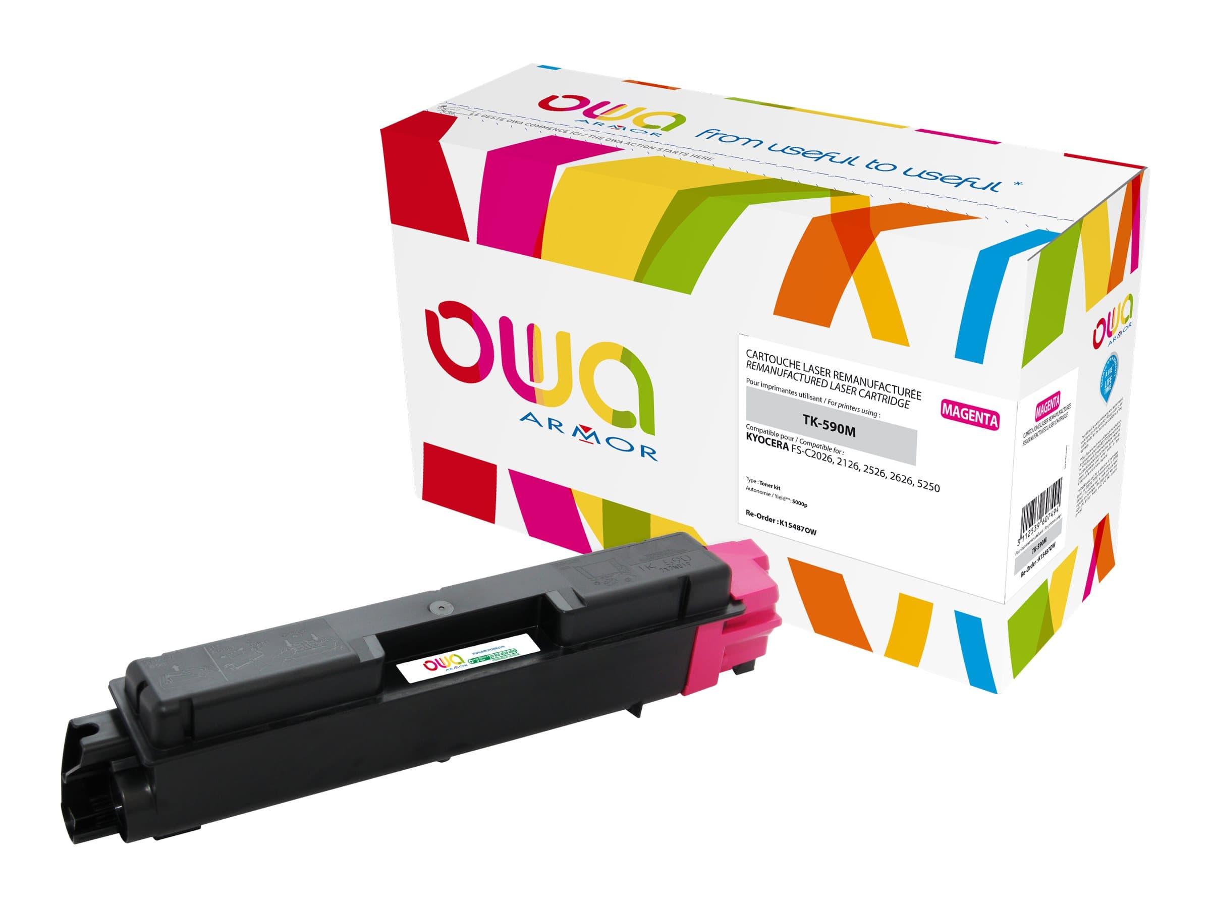 Kyocera TK-590 - remanufacturé Owa K15487OW - magenta - cartouche laser