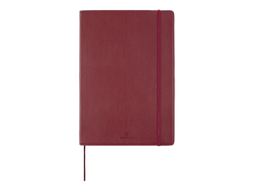 Oberthur Balthazar - Carnet de notes souple A5 - ligné - 200 pages - prune
