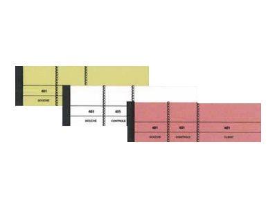 ELVE - 10 Blocs passe-partout 3 volets - 50 x 150 mm - numéroté - jaune