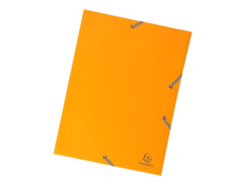 Exacompta - Chemise polypro à rabats - A4 - pour 150 feuilles - jaune opaque