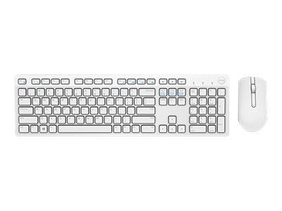Dell KM636 - ensemble clavier et souris - français (AZERTY) - blanc