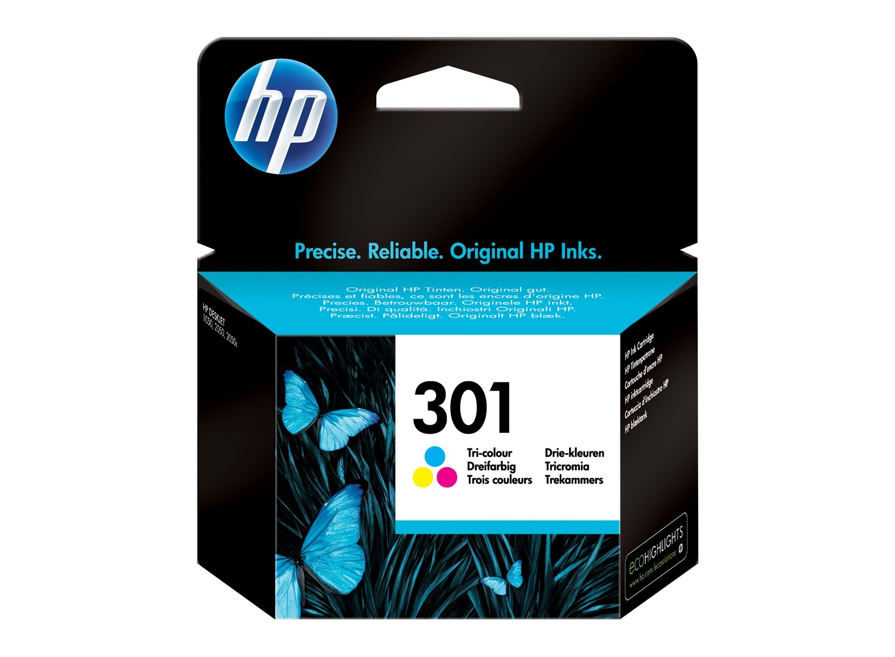 HP 301 - cyan, magenta, jaune - cartouche d'encre originale