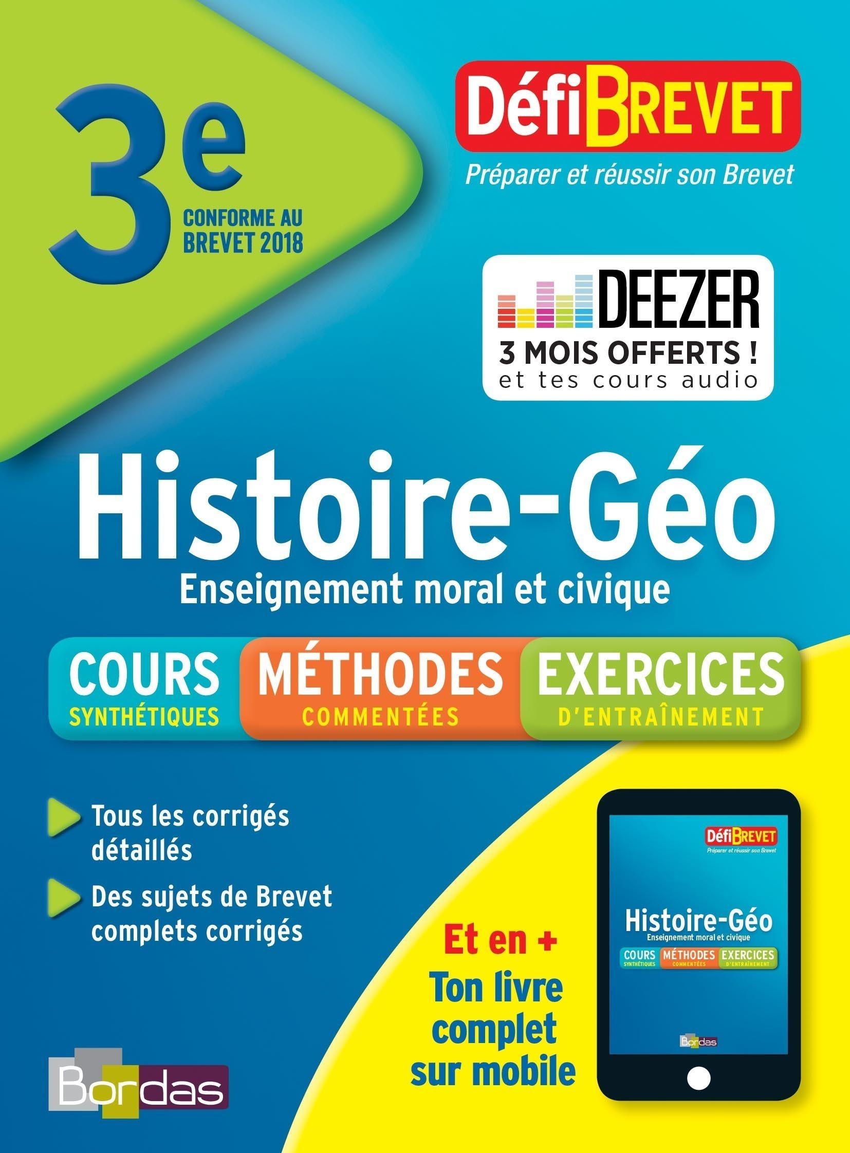 Défibrevet Histoire Géo EMC brevet 3e
