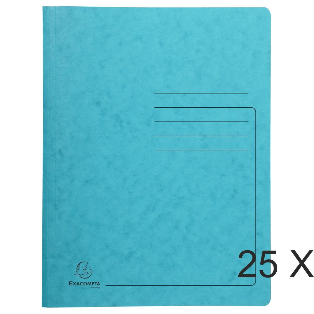 Exacompta - 25 Chemises de classement à ressort - turquoise